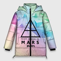 Женская зимняя 3D-куртка с капюшоном с принтом 30 Seconds to Mars, цвет: 3D-черный, артикул: 10149845306071 — фото 1