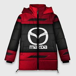Женская зимняя 3D-куртка с капюшоном с принтом Mazda Sport, цвет: 3D-черный, артикул: 10152931906071 — фото 1