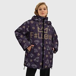 Куртка зимняя женская Follow to King цвета 3D-черный — фото 2