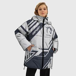 Женская зимняя 3D-куртка с капюшоном с принтом Team Liquid: Grey E-Sport, цвет: 3D-черный, артикул: 10154947106071 — фото 2