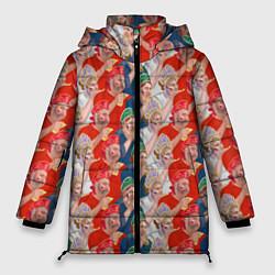 Женская зимняя 3D-куртка с капюшоном с принтом Истинные фанаты России, цвет: 3D-черный, артикул: 10155766106071 — фото 1