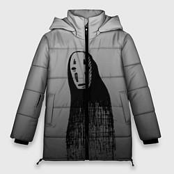 Женская зимняя 3D-куртка с капюшоном с принтом Унесенные призраками, цвет: 3D-черный, артикул: 10155852706071 — фото 1