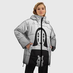 Женская зимняя 3D-куртка с капюшоном с принтом Унесенные призраками, цвет: 3D-черный, артикул: 10155871506071 — фото 2