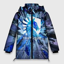 Женская зимняя 3D-куртка с капюшоном с принтом Team Liquid: Splinters, цвет: 3D-черный, артикул: 10156122106071 — фото 1