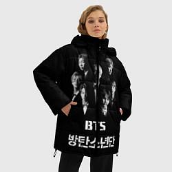 Куртка зимняя женская BTS Group цвета 3D-черный — фото 2