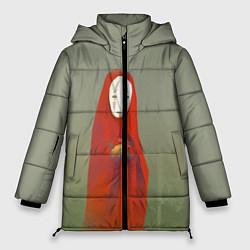 Женская зимняя 3D-куртка с капюшоном с принтом Унесенные призраками, цвет: 3D-черный, артикул: 10161273706071 — фото 1
