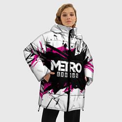 Женская зимняя 3D-куртка с капюшоном с принтом Metro: Exodus Purple, цвет: 3D-черный, артикул: 10161592906071 — фото 2
