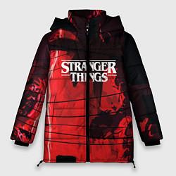 Женская зимняя 3D-куртка с капюшоном с принтом Stranger Things: Red Dream, цвет: 3D-черный, артикул: 10167397906071 — фото 1