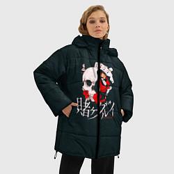 Женская зимняя 3D-куртка с капюшоном с принтом Безумный азарт, цвет: 3D-черный, артикул: 10171197706071 — фото 2