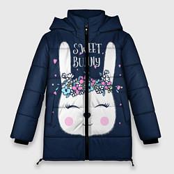 Женская зимняя 3D-куртка с капюшоном с принтом Sweet Bunny, цвет: 3D-черный, артикул: 10171329506071 — фото 1