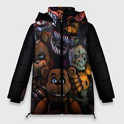 Женская зимняя 3D-куртка с капюшоном с принтом Five Nights at Freddy's, цвет: 3D-черный, артикул: 10171448306071 — фото 1