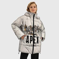 Женская зимняя 3D-куртка с капюшоном с принтом Apex Legends: Warriors, цвет: 3D-черный, артикул: 10172193506071 — фото 2
