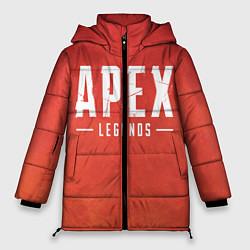Женская зимняя 3D-куртка с капюшоном с принтом Apex Legends: Red Logo, цвет: 3D-черный, артикул: 10172289106071 — фото 1