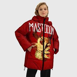 Женская зимняя 3D-куртка с капюшоном с принтом Mastodon: Leviathan, цвет: 3D-черный, артикул: 10172762506071 — фото 2
