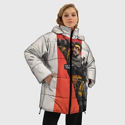 Женская зимняя 3D-куртка с капюшоном с принтом Apex Legends: Mirage, цвет: 3D-черный, артикул: 10172776706071 — фото 2