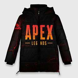 Женская зимняя 3D-куртка с капюшоном с принтом Apex Legends: Dark Game, цвет: 3D-черный, артикул: 10172890906071 — фото 1