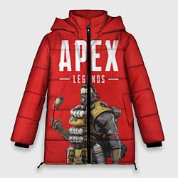 Женская зимняя 3D-куртка с капюшоном с принтом Apex Legends: Red Caustic, цвет: 3D-черный, артикул: 10173374306071 — фото 1