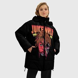 Женская зимняя 3D-куртка с капюшоном с принтом Juice WRLD, цвет: 3D-черный, артикул: 10173990506071 — фото 2