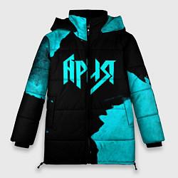 Женская зимняя 3D-куртка с капюшоном с принтом Ария, цвет: 3D-черный, артикул: 10182326706071 — фото 1