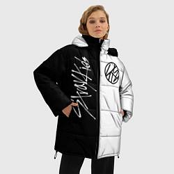 Женская зимняя 3D-куртка с капюшоном с принтом Stray Kids, цвет: 3D-черный, артикул: 10196988706071 — фото 2