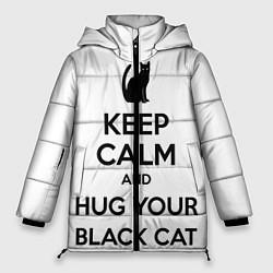 Куртка зимняя женская Обними своего черного кота - фото 1