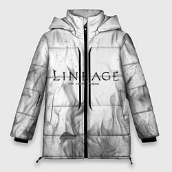 Женская зимняя 3D-куртка с капюшоном с принтом LINEAGE 2, цвет: 3D-черный, артикул: 10202648906071 — фото 1