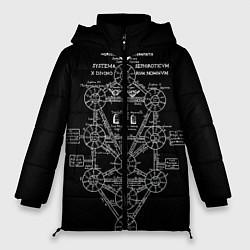 Женская зимняя 3D-куртка с капюшоном с принтом EVa-updown, цвет: 3D-черный, артикул: 10206831706071 — фото 1