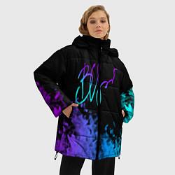 Куртка зимняя женская Виктор Цой цвета 3D-черный — фото 2