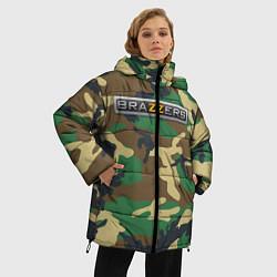 Женская зимняя 3D-куртка с капюшоном с принтом Brazzers, цвет: 3D-черный, артикул: 10210751506071 — фото 2