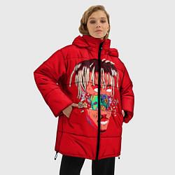 Женская зимняя 3D-куртка с капюшоном с принтом Juice WRLD, цвет: 3D-черный, артикул: 10213235906071 — фото 2