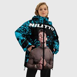 Женская зимняя 3D-куртка с капюшоном с принтом NILETTO, цвет: 3D-черный, артикул: 10213505106071 — фото 2