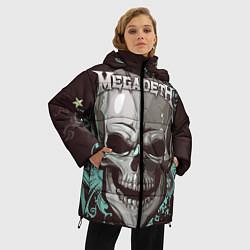Женская зимняя 3D-куртка с капюшоном с принтом Megadeth, цвет: 3D-черный, артикул: 10218171706071 — фото 2