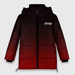 Женская зимняя 3D-куртка с капюшоном с принтом Jeep спина Z, цвет: 3D-черный, артикул: 10237334506071 — фото 1