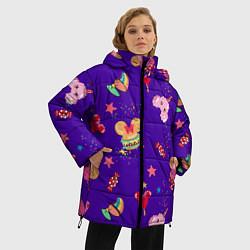 Женская зимняя 3D-куртка с капюшоном с принтом Минни Маус, цвет: 3D-черный, артикул: 10250076706071 — фото 2