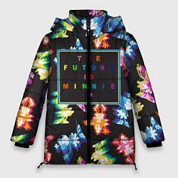 Женская зимняя 3D-куртка с капюшоном с принтом Минни Маус, цвет: 3D-черный, артикул: 10250660706071 — фото 1