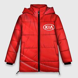 Женская зимняя 3D-куртка с капюшоном с принтом KIA, цвет: 3D-черный, артикул: 10254232106071 — фото 1
