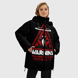 Женская зимняя 3D-куртка с капюшоном с принтом Евангелион, цвет: 3D-черный, артикул: 10265870906071 — фото 2
