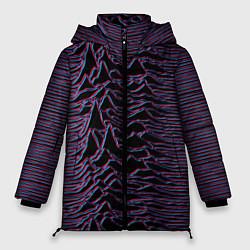Женская зимняя 3D-куртка с капюшоном с принтом Joy Division Glitch, цвет: 3D-черный, артикул: 10265920906071 — фото 1