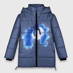 Женская зимняя 3D-куртка с капюшоном с принтом Спящая принцесса Луна, цвет: 3D-черный, артикул: 10274331706071 — фото 1