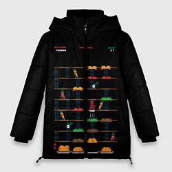 Женская зимняя 3D-куртка с капюшоном с принтом Deadpool игра, цвет: 3D-черный, артикул: 10275022106071 — фото 1
