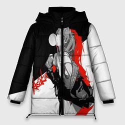 Женская зимняя 3D-куртка с капюшоном с принтом Asuka Langley Evangelion, цвет: 3D-черный, артикул: 10277925106071 — фото 1