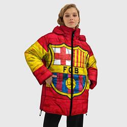 Женская зимняя 3D-куртка с капюшоном с принтом Barcelona, цвет: 3D-черный, артикул: 10063905206071 — фото 2