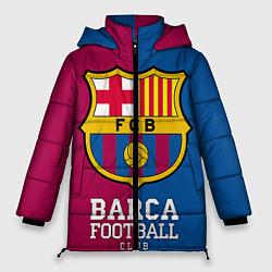 Женская зимняя 3D-куртка с капюшоном с принтом Barca Football, цвет: 3D-черный, артикул: 10063905806071 — фото 1