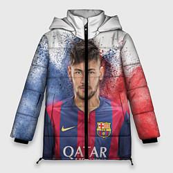 Куртка зимняя женская Neymar FCB цвета 3D-черный — фото 1