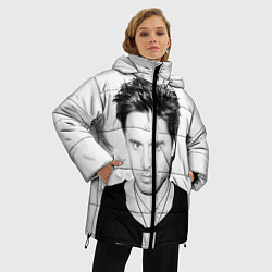 Женская зимняя 3D-куртка с капюшоном с принтом Джаред Лето, цвет: 3D-черный, артикул: 10063908206071 — фото 2