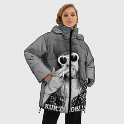 Куртка зимняя женская Кобейн в очках - фото 2