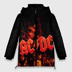 Куртка зимняя женская AC/DC Flame цвета 3D-черный — фото 1