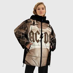 Женская зимняя 3D-куртка с капюшоном с принтом AC/DC Girl, цвет: 3D-черный, артикул: 10064006906071 — фото 2