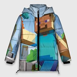 Куртка зимняя женская Minecraft World цвета 3D-черный — фото 1