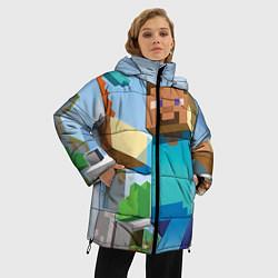 Куртка зимняя женская Minecraft World цвета 3D-черный — фото 2